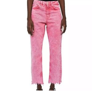 Zara Basic Pink High Waist Mom Jeans